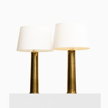 A pair of table lamps in brass at Studio Schalling