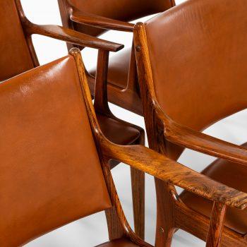 Johannes Andersen armchairs in rosewood at Studio Schalling