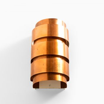 Hans-Agne Jakobsson V-155 wall lamps in copper at Studio Schalling