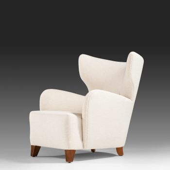 Flemming Lassen attributed pair of wingback easy chairs at Studio Schalling