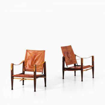 Kaare Klint safari easy chairs by Rud Rasmussen at Studio Schalling