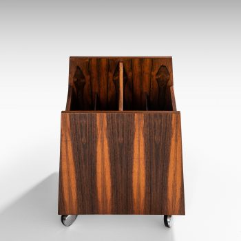 Rolf Hesland magazine rack in rosewood at Studio Schalling