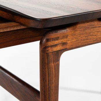 Peter Hvidt & Orla Mølgaard-Nielsen side tables in solid rosewood at Studio Schalling