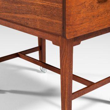Ludvig Pontoppidan side table in teak and brass at Studio Schalling