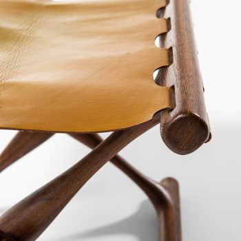 Poul Hundevad Guldhøj stool in wengé and leather at Studio Schalling