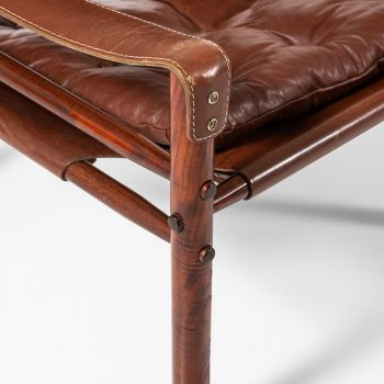 Arne Norell Sirocco easy chairs in brown leather at Studio Schalling