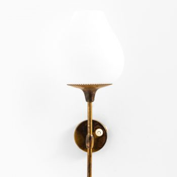 Alf Svensson wall lamps in brass and opal glass at Studio Schalling