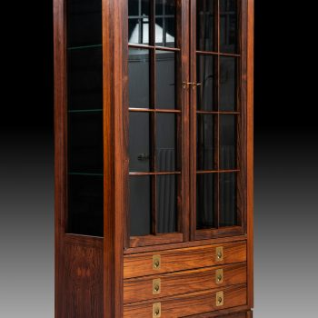 Cabinet in rosewood and brass attributed to Torbjørn Afdal at Studio Schalling