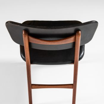 Gustav Bertelsen dining chairs in teak and leather at Studio Schalling
