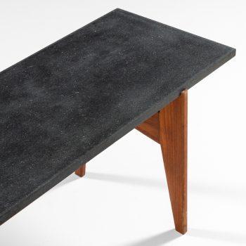 Hans-Agne Jakobsson side table in teak and granite at Studio Schalling