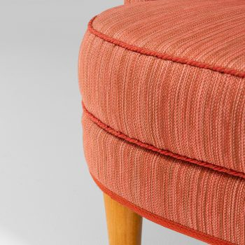 Carl Malmsten Roma sofa in red fabric at Studio Schalling
