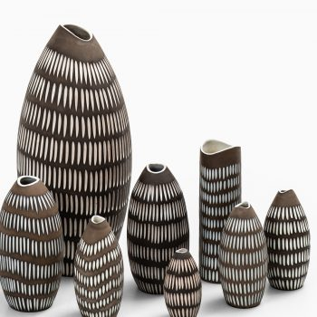 Ingrid Atterberg Negro ceramic vases at Studio Schalling