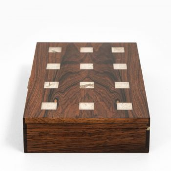 Hans Hansen box in rosewood and silver at Studio Schalling