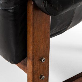 Percival Lafer sofa model MP-091 in black leather at Studio Schalling