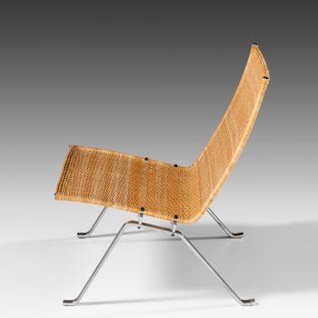 Poul Kjærholm PK-22 easy chairs in rattan at Studio Schalling