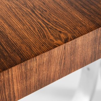 Poul Nørreklit dining table in rosewood and steel at Studio Schalling