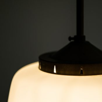 Bent Karlby ceiling lamp in opaline glass by Lyfa at Studio Schalling