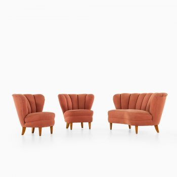 Pair of easy chairs in the manner of Otto Schulz at Studio Schalling