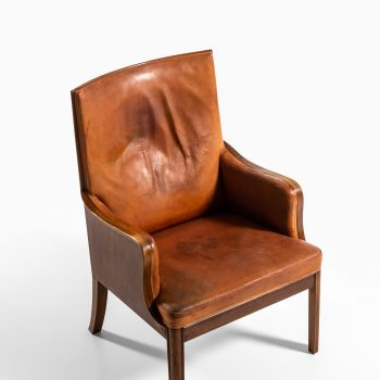 Frits Henningsen easy chair in mahogany at Studio Schalling