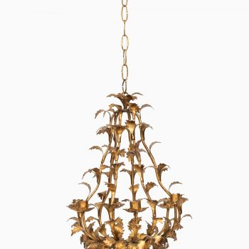 Chandelier in brass by Svenskt Tenn at Studio Schalling