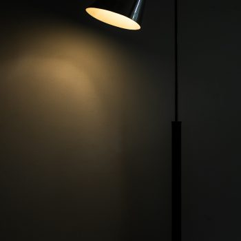 Vilhelm Lauritzen & Frits Schlegel floor lamp in nickel plated metal at Studio Schalling