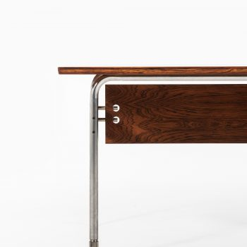 Arne Vodder desk in rosewood and steel at Studio Schalling