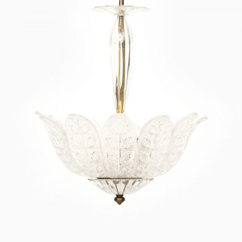 Carl Fagerlund ceiling lamp in brass and glass at Studio Schalling