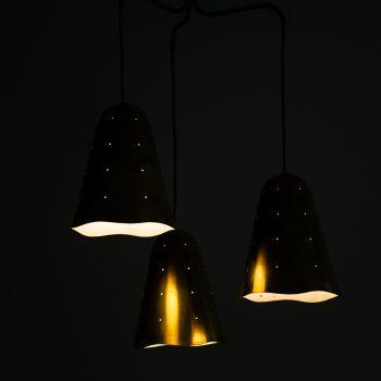 Ceiling lamp in brass by unknown designer at Studio Schalling