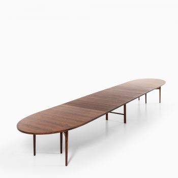 Arne Vodder dining / conference table in rosewood at Studio Schalling