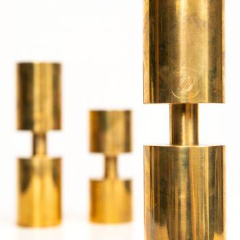 Thelma Zoéga candlesticks in brass at Studio Schalling