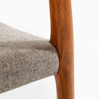 Niels O. Møller dining chairs model 77 in rosewood at Studio Schalling