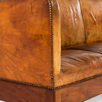 Jacob Kjær sofa in cuban mahogany and niger leather at Studio Schalling