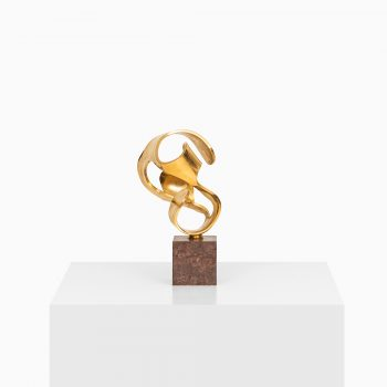 Bror Johansson sculpture in marble and brass at Studio Schalling