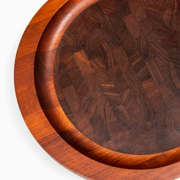 Jens Quistgaard tray in teak and wengé produced by Dansk at Studio Schalling