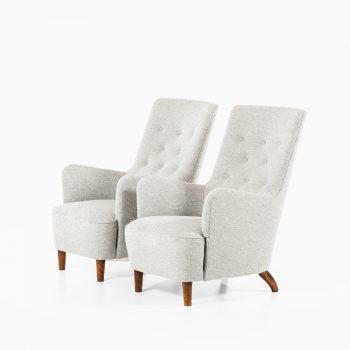 Carl-Axel Acking easy chairs in Kvadrat Hallingdal at Studio Schalling
