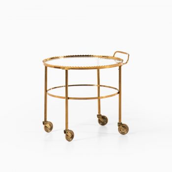 Mid century trolley in brass and glass at Studio Schalling