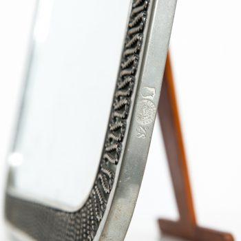 Estrid Ericsson table mirror in pewter by Svenskt Tenn at Studio Schalling