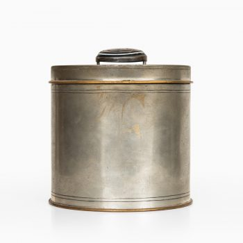 Jar in pewter, brass and stone by Svenskt Tenn at Studio Schalling