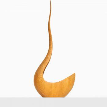 Bowl / sculpture in ash by unknown designer at Studio Schalling