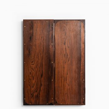 Frode Holm folding mirror in rosewood at Studio Schalling