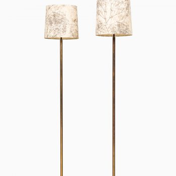 Pair of floor lamps attributed to Hans Bergström and produced by ASEA at Studio Schalling