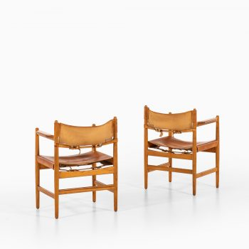 Børge Mogensen armchairs by Svensk fur at Studio Schalling