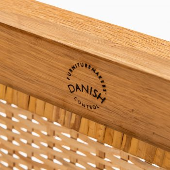 Kai Winding chest in oak and woven cane at Studio Schalling