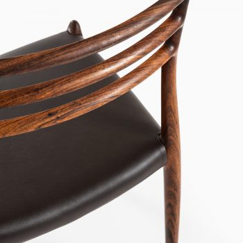 Niels O. Møller dining chairs model 78 in rosewood at Studio Schalling