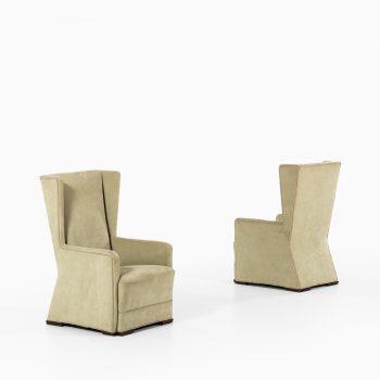 Pair of easy chairs attributed to Uno Åhrén or Björn Trädgårdh at Studio Schalling
