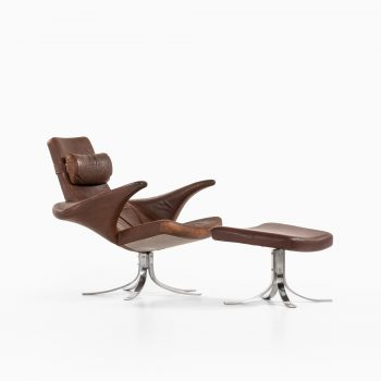 Gösta Berg Seagull / Måsen easy chair with stool at Studio Schalling