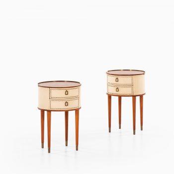 Halvdan Pettersson bedside tables in mahogany at Studio Schalling
