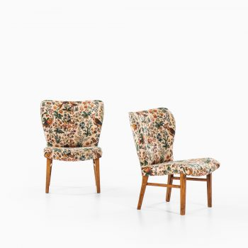 Erik Bertil Karlén attributed pair of easy chairs at Studio Schalling