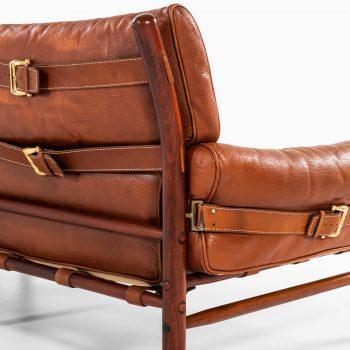 Arne Norell Kontiki 3-seat sofa in brown leather at Studio Schalling