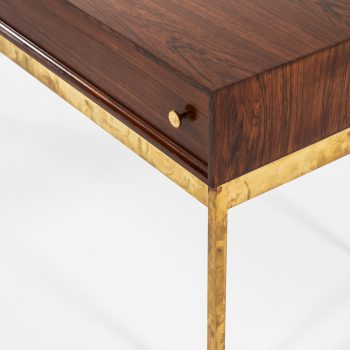 Poul Nørreklit side tables in rosewood and brass at Studio Schalling